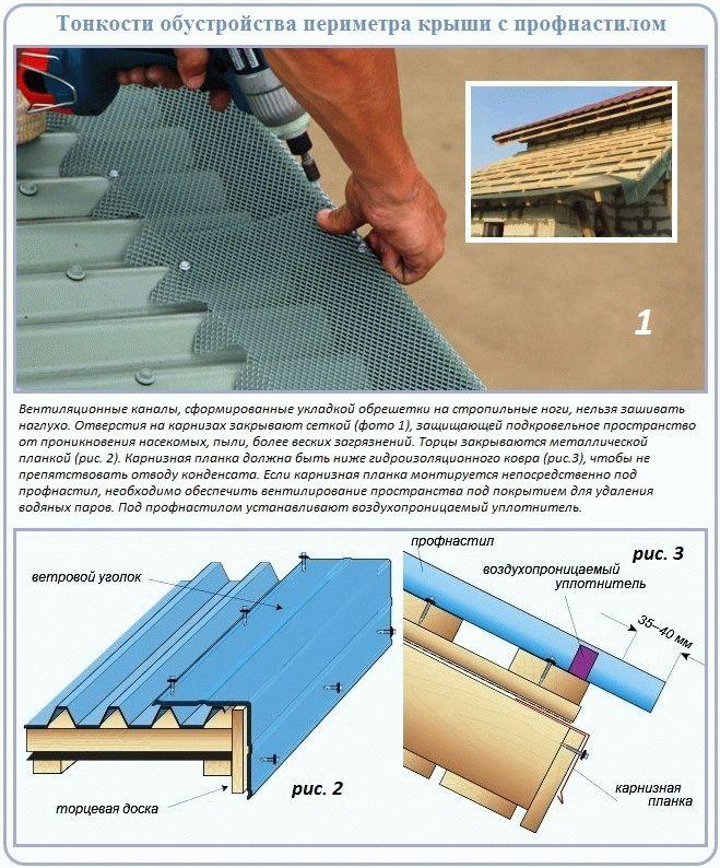 Как правильно сделать крышу под профнастил 756