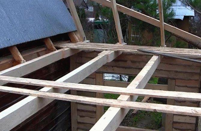Как правильно сделать крышу на пристройку 323