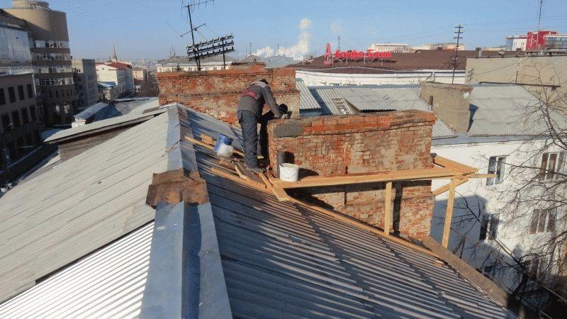 Крыша на балкон последнего этажа