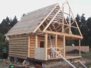 Крыша на баню своими руками пошагово