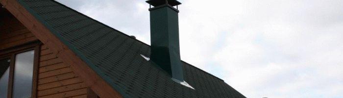 Изоляция печной трубы на крыше