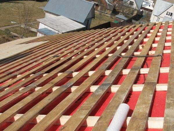 Как правильно укладывать шифер на односкатной крыше