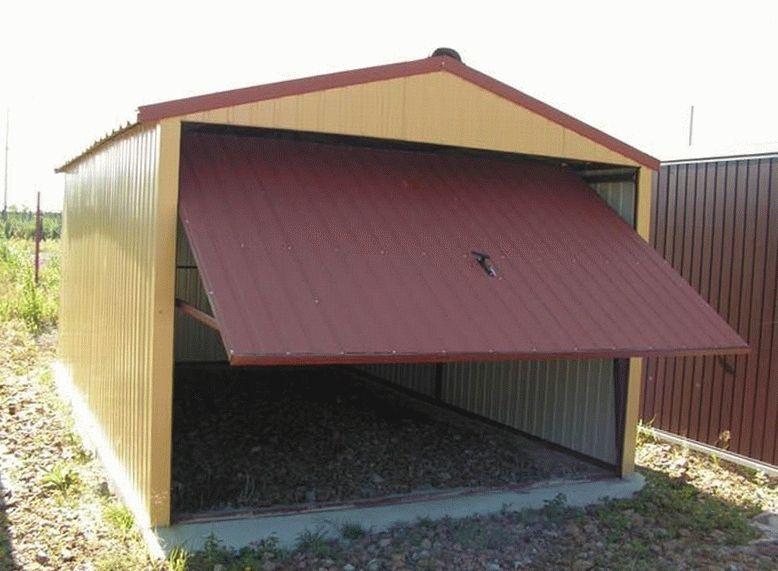 Строим крыша гаража своими руками 51