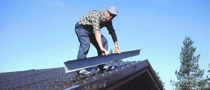 Как крыть крышу металлочерепицей своими руками