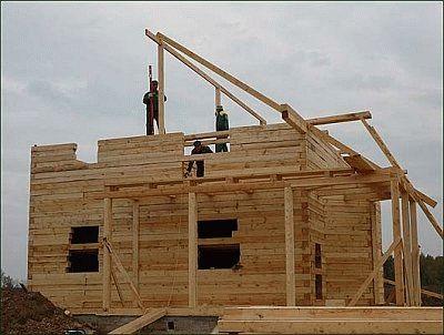 Размер стропил для крыши