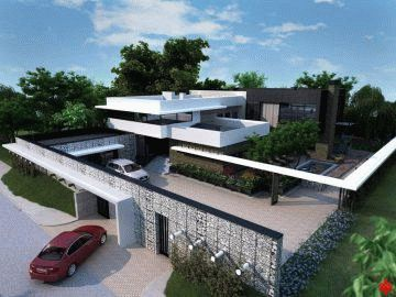 Проект каркасного дома с плоской крышей