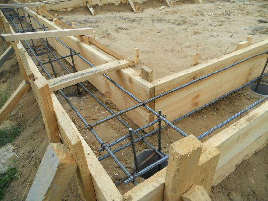 Заливка фундамента для каркасного дома