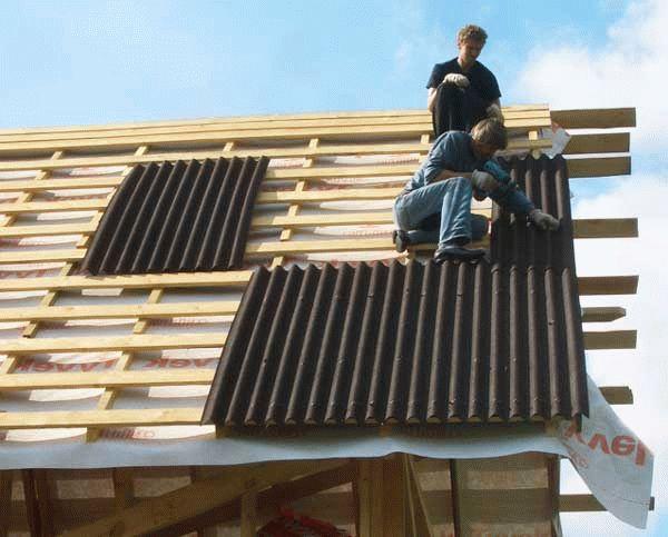 Как подать шифер на крышу