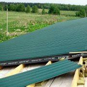 Плоская крыша из профнастила
