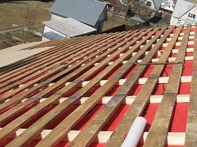 Обрешетка под металлопрофиль на крышу