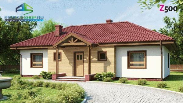 Дома с четырехскатной крышей проекты