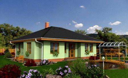 Одноэтажные дома с четырехскатной крышей