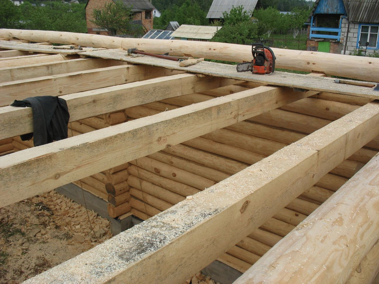 Двухскатная крыша своими руками для бани